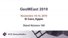 ¡Conozca a ACE Geosynthetics en GeoMEast 2019 en Egipto!