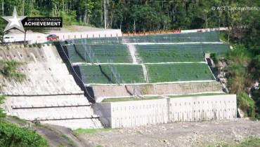 Structure renforcée complexe près de la zone de la faille, Taïwan
