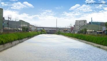Construction de revêtements pour l'assainissement du canal du port d'Anliang, Taïwan
