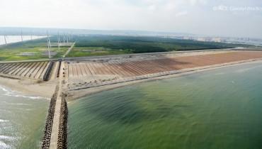 Projet de traitement des dépôts de sable et de récupération des terres, port de Taichung, Taichung, Taiwan