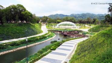 Parc paysager écologique doté d'une fonction de rétention des inondations, Taïwan