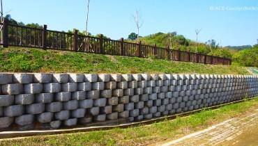 Protection de pente et lutte contre l'érosion du cimetière public n ° 13, Miaoli, Taiwan