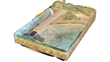 Brise-lames submergés et récifs artificiels