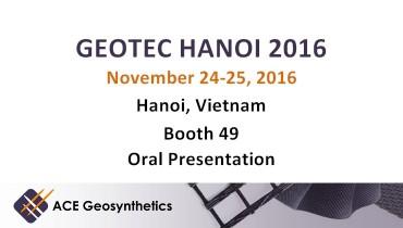 ACE Geosynthetics to exhibit at GEOTEC HANOI 2016 in Vietnam