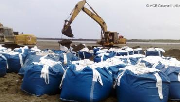 Sand Barriers Restoration, Tainan, Taiwan