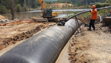 Use Geotextile Tube as Mine Slurry Dewatering Treatment
