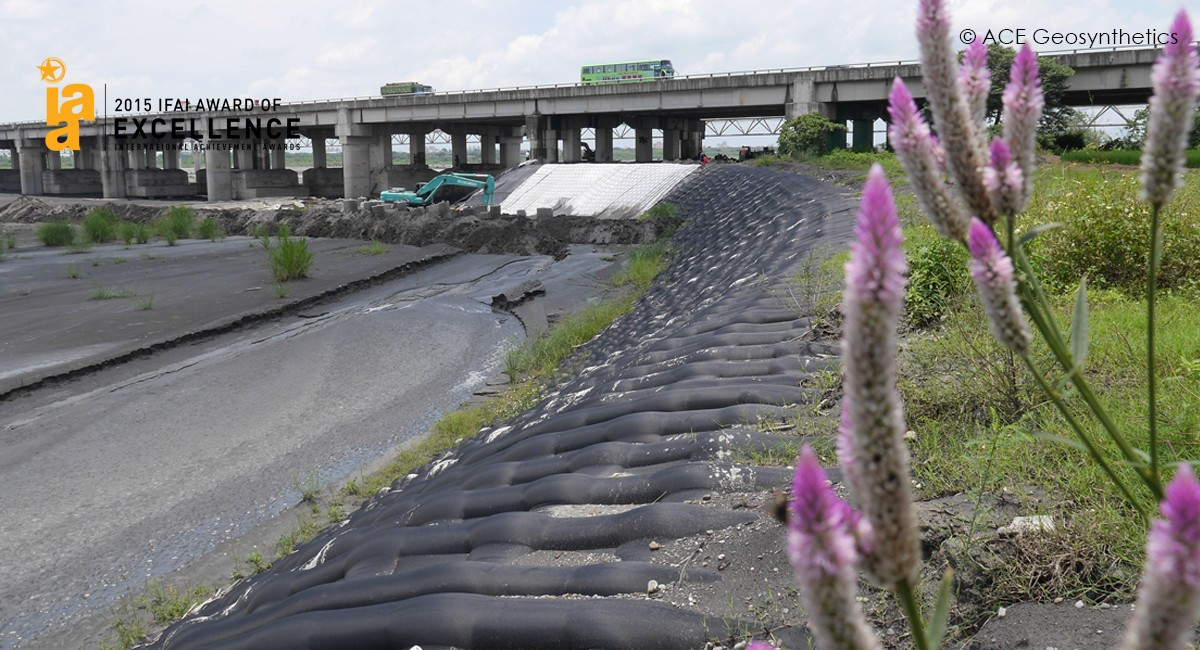 Protection de la fondation du quai du pont de Zhongsha, Taïwan