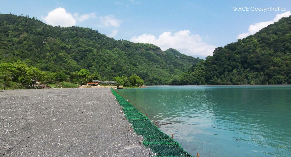 Les utilisations multifonctionnelles de ACEBag™ pour le confinement des sols dragués et la construction de batardeaux, Nantou, Taiwan