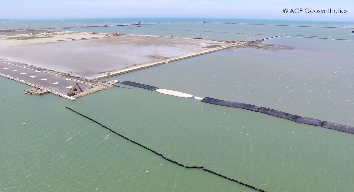Application of Silt Curtains at a Dredging Project, New Taipei, Taiwan